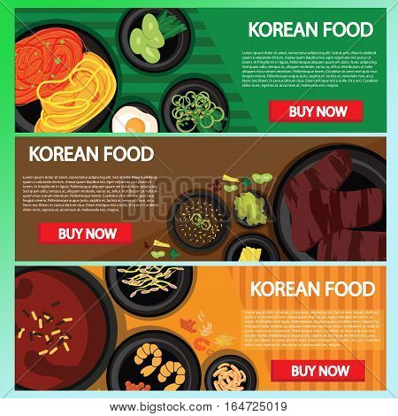 korean food baner website online buying, This design is suitable for a brochure, banner or poster