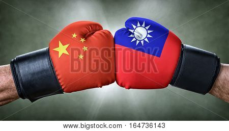 A Boxing Match Between China And Taiwan
