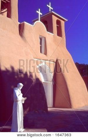 Taos Church Statue