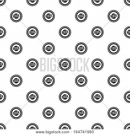 Beer bottle cap pattern. Simple illustration of beer bottle cap vector pattern for web design