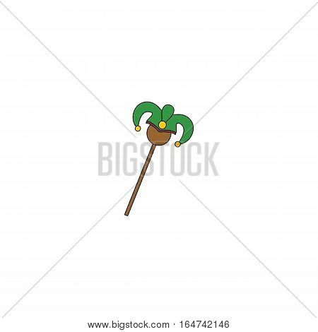 Wildcard stick vector illustration isolated on a white background.