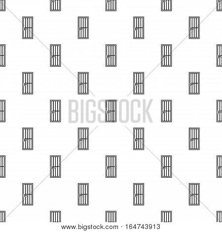 Steel door pattern. Simple illustration of steel door vector pattern for web design