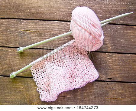 knitting yarn yarn knitting needles knitted thing