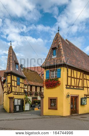Exterior view of Joseph Freudenreich winery Eguisheim Alsace France