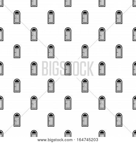 Arched front door pattern. Simple illustration of arched front door vector pattern for web design