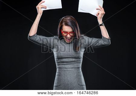 Exited Young Woman