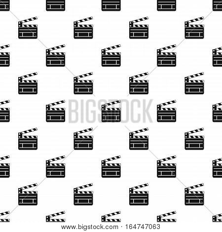Clapperboard pattern. Simple illustration of clapperboard vector pattern for web