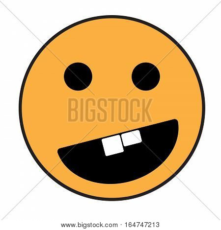 Smiley face. Yellow orange smile poster. World smile day. Vector illustration. Smiley vector. Smiley icon. Emoticon icon.