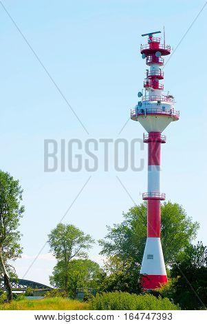 Baltiysk, Russia - June 29, 2010: New lighthouse in Baltiysk. ex-Pillau. Kaliningrad region. Russia