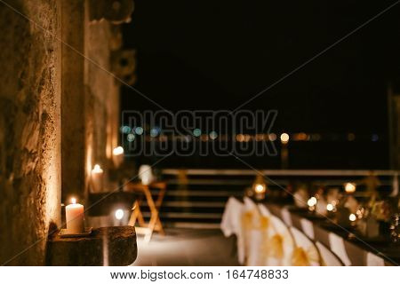evening restaurant party reception. Party banquet. Wedding reception