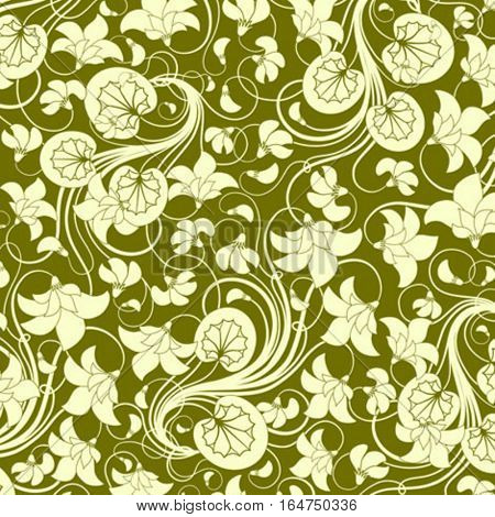 Floral background. Beautiful vector illustration.