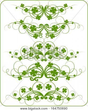 Saint Patrick's Day decoration. Vector illustration.