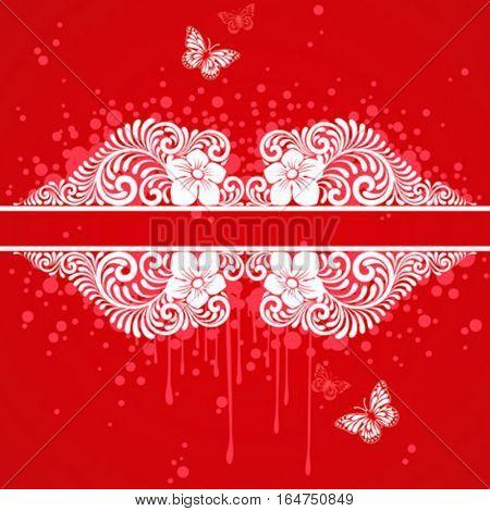 Floral frame. Beautiful vector illustration.