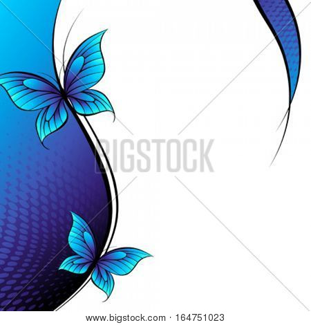 Butterfly. Beautiful abstract vector illustration.
