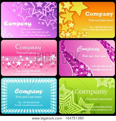 Business cards. Beautiful vector illustration.