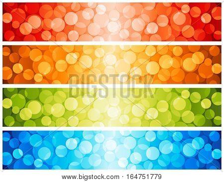 Shiny lights dots. Vector illustration.