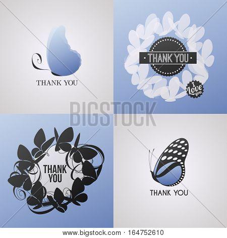 Butterfly. Elements for design. Vector illustration