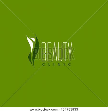 Beauty clinic logo design vector template. Calla flower icon
