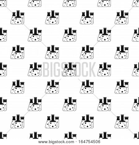 Chemical laboratory flasks pattern. Simple illustration of chemical laboratory flasks vector pattern for web