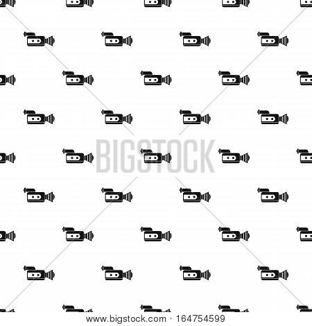 Video camcorder pattern. Simple illustration of video camcorder vector pattern for web