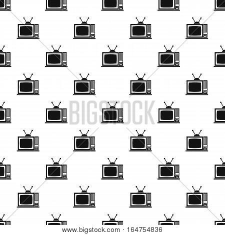 Retro TV pattern. Simple illustration of retro TV vector pattern for web