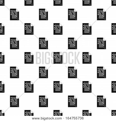 Shopping list and pen pattern. Simple illustration of shopping list and pen vector pattern for web