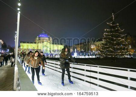 Ice Skating In Zagreb