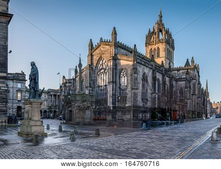 St Giles Cathedral in Edinburgh old town
