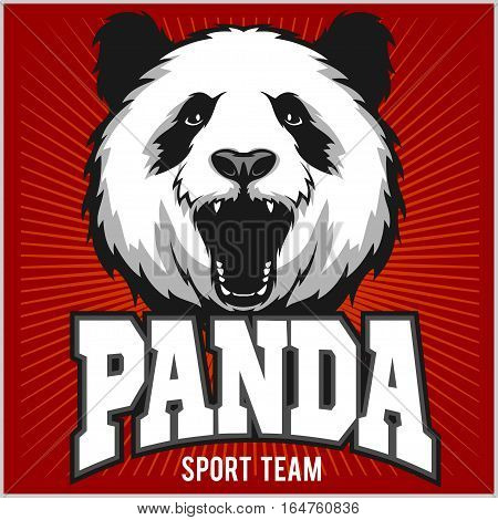 Pandas Logotype Sign. Template for Pandas sport team logo.