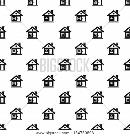 Small cottage pattern. Simple illustration of small cottage vector pattern for web