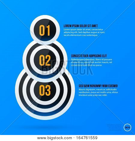 Corporate Business Banners And Options Template On Bright Blue Background. Useful For Presentations
