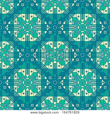 Seamless abstract geometric pattern with one of a kind repetition.