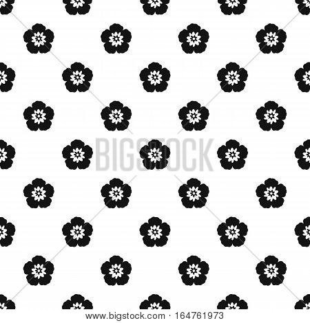 Rose of Sharon pattern. Simple illustration of rose of Sharon vector pattern for web