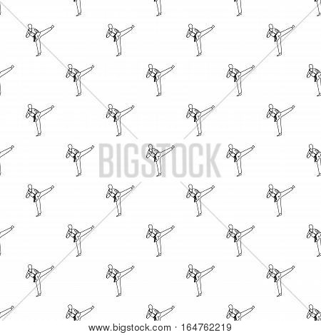 Wushu fighting style pattern. Simple illustration of wushu fighting style vector pattern for web