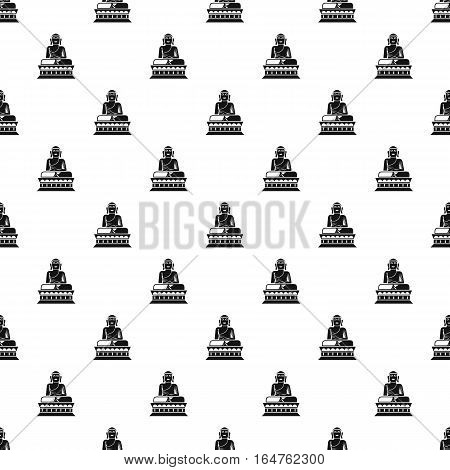 Statue of sitting Buddha pattern. Simple illustration of statue of sitting Buddha vector pattern for web
