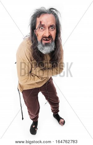 Crazy Man With Straitjacket