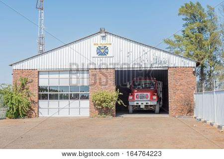 RITCHIE SOUTH AFRICA - DECEMBER 30 2016: The fire station in Ritchie a small town in the Sol Plaatje municipality of the Northern Cape Province