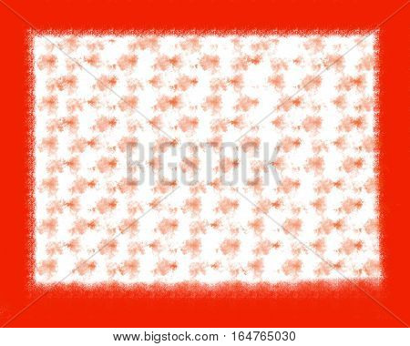 Beautiful background of a red frame and abstract lines and circles