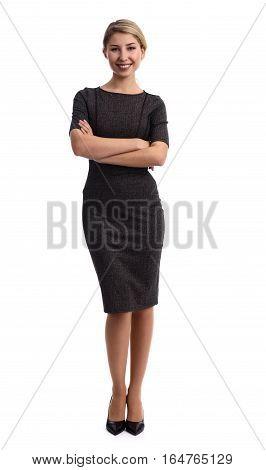 Full Length Portrait Of A Beautiful Woman