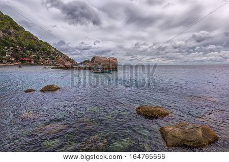 Sea landscape on Tao's island in Thailand
