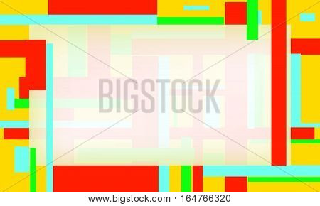 Abstract and modern spectral background frame in curve EPS 10