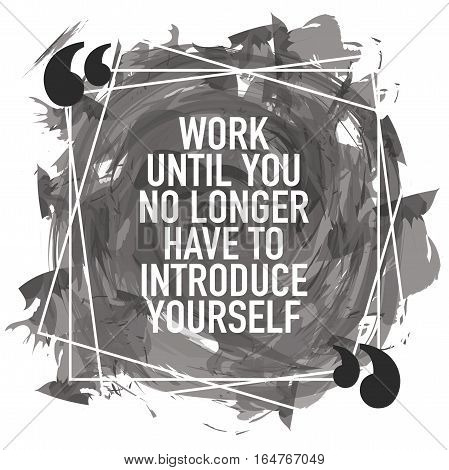 Motivation concept motivational business quote poster illustration design