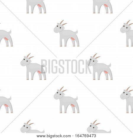 Goat icon cartoon. Single bio, eco, organic product icon from the big milk cartoon. - stock vector