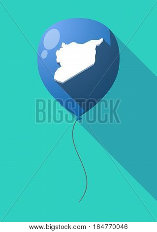 Long Shadow Balloon With  The Map Of Syria