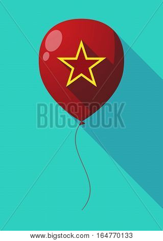 Long Shadow Balloon With  The Red Star Of Communism Icon