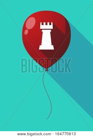 Long Shadow Balloon With A  Rook   Chess Figure
