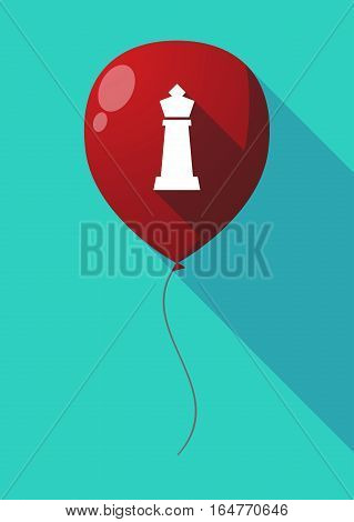 Long Shadow Balloon With A  King   Chess Figure