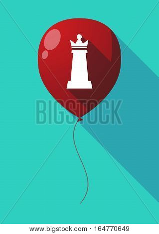 Long Shadow Balloon With A  Queen   Chess Figure