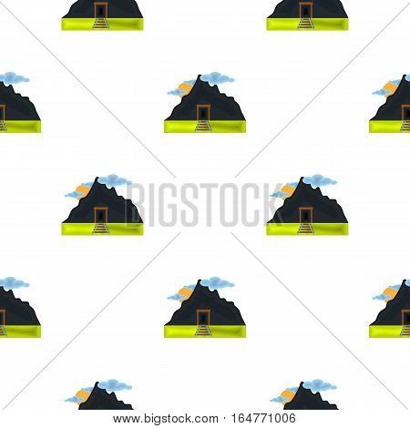 Mine icon in cartoon style isolated on white background. Mine pattern vector illustration.