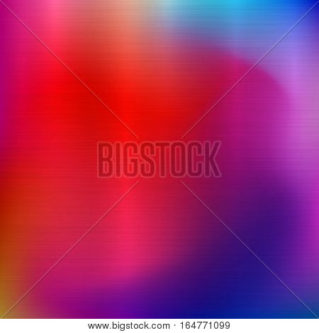 Metal abstract red and blue colorful gradient technology background with polished, brushed texture, chrome, silver, steel, aluminum for design concepts, web, prints, wallpapers. Vector illustration.